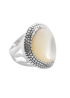 Snakeskin Print and Mother of Pearl Ring