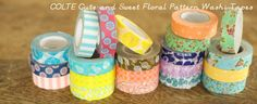 COLTE Cute and Lovely Japanese Washi Masking Tapes Tapes | Floral and Kids  Japanese site ships worldwide