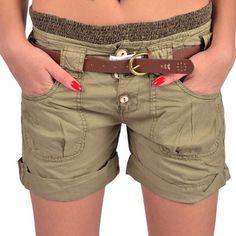 Bershka Pantaloni scurti kaki Bershka - http://outlet-mall.net/outlet/outlet-femei/pantaloni-scurti/bershka-pantaloni-scurti-kaki-bershka/