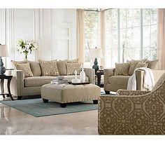 Sidney Road Cocktail Ottoman | Fabric Furniture Sets | Living Rooms | Art Van Furniture -