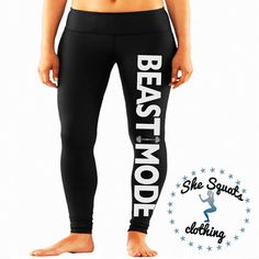 Hey, I found this really awesome Etsy listing at https://www.etsy.com/listing/199398987/beast-mode-performance-workout-leggings