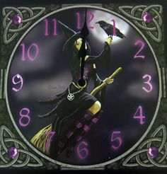 Moonmaiden Gothic Clothing -  Raven Witch Clock