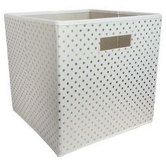 Target - Fabric Cube Storage Bin Gold Dots - Pillowfort™ love these!!