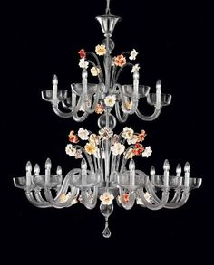 This is a very unconventional combination of colours, but it works! Made from grey Murano glass, this wonderful Venetian chandelier is decorated with pretty multi-coloured flowers. http://www.italian-lighting-centre.co.uk/large-murano-glass-chandeliers/grey-murano-glass-chandelier-with-colourful-flowers-p-8323.html#.VWCZj_lViko