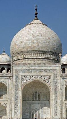 Taj Mahal Detail, Agra, India. **