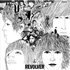 Album Cover designed by Klaus Voormann, ca. The Beatles, Revolver. Friend of the Beatles from the Hamburg days and designer of their Revolver album cover. Ringo Starr, George Harrison, Paul Mccartney, Beatles Album Covers, Rock Album Covers, Cover Art, Lp Cover, Beatles Songs, Beatles Bible