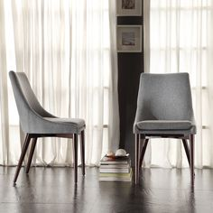 INSPIRE Q Sasha Grey Fabric Upholstered Slope Leg Dining Chairs (Set of 2) - Overstock Shopping - Great Deals on INSPIRE Q Dining Chairs