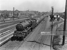 London Midland Scotland (LMS) rebuilt Royal Scot 4-6-0 locomotive 46162 'Queen's Westminster Rifelman', West Ealing 19th May 1948. West Ealing, GWR. Locomotive exchanges 19 May 1948 (John F. Russell Smith, JFRS_116).