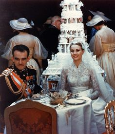 """The wedding of prince Rainier of Monaco and Grace Kelly, 19 April 1956 """