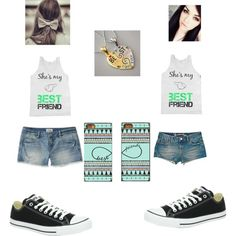 best freiend matching outfits   fashion look from July 2013 featuring Aéropostale shorts, American ...