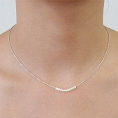 Pearls Silver Necklace -- simple jewelry does make a statement, too. Very cute :)