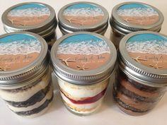6 8oz Cupcakes In A Jar-Mason Jars-Wedding by SweetSistersCupcake