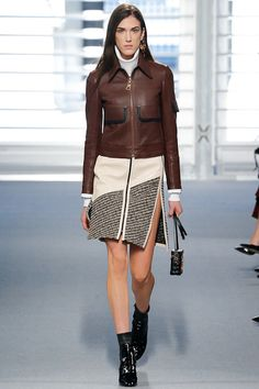 Louis Vuitton | Fall 2014 Ready-to-Wear Collection | Style.com, Nicolas Ghesquière, there were a lot of skins, a lot of suede, a lot of leather used them in innovative ways, Skirts and dresses were squarely the focus