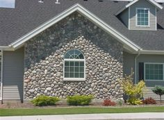 Rolled River Rock | Kodiak Mountain Stone Stone Gallery, Manufactured Stone, Rolls, Mountain, Cabin, River, House Styles, Home Decor, Homemade Home Decor