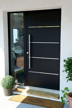 16 charming front door designs to choose from .- 16 charmante Haustür-Designs, die Ihnen bei Ihrer Auswahl helfen – Hauseingan… 16 charming front door designs to help you make your selection entrance - Contemporary Front Doors, Modern Front Door, House Front Door, House Doors, Front Entry, Modern Exterior Doors, Modern Entryway, Door Design Interior, Main Door Design