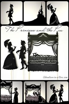 Create your own Shadow Puppet Theatre for the fairy tale The Princess and the Pea including FREE downloadable and print yourself characters and scenary.