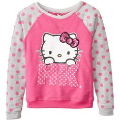 Hello Kitty Little Girls' Raw Edge HK Pullover with Sugar Glitter, Antique Fuchsia, 5 Cute Dresses For Teens, Girl Closet, Japanese Outfits, Pink Sweater, Long Sleeve Sweater, Pretty In Pink, Girl Outfits, Graphic Sweatshirt, Pullover