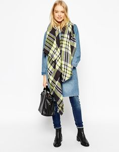 ASOS Oversized Check Scarf