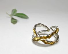Statement Anticlastic Jewelry from Pure Silver 999 by Ingridjewel Organic Form, Eternity Ring, Heart Ring, Handmade Items, Silver Rings, Gemstones, Criss Cross, Anniversary, Etsy Shop