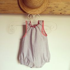 "Baby romper ❤️ ""Tra le nuvole"" baby couture  #babyromper"
