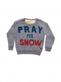 Grey Pray For Snow Tee by Aviator Nation