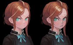 3d Model Character, Character Design Girl, Character Modeling, Character Concept, Character Art, 3d Modeling, Girls Characters, Anime Characters, Face Topology