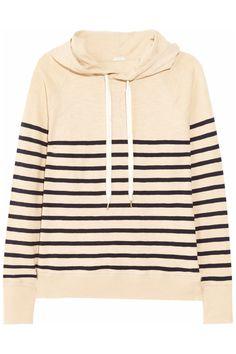 J.Crew|Hooded striped cotton sweatshirt|NET-A-PORTER.COM  $78.00