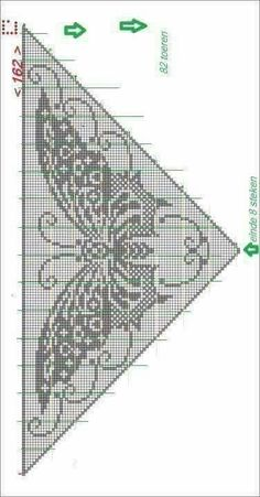 Mix it Up Shawl / Omslagdoeken / Haken Butterfly chart for filet crochet. Kira scheme crochet: Scheme crochet no. This Pin was discovered by Sab Crochet Shawl Diagram, Crochet Lace Scarf, Gilet Crochet, Filet Crochet Charts, Crochet Shawls And Wraps, Crochet Scarves, Crochet Motif, Crochet Clothes, Crochet Stitches