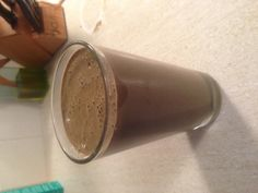 Meal replacement smoothie:  It was 350 calories and has 58 grams of protein.  Blend together: One frozen banana.  1 Scoop of chocolate protein.  1 Cup of unsweetened almond milk.  4T of PB2.  1T unsweetened dark cocoa.  2 cups of baby spinach. Delicious!