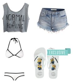 """#352"" by aureeliet on Polyvore featuring Havaianas"