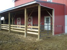nice lean-to stalls for a barn