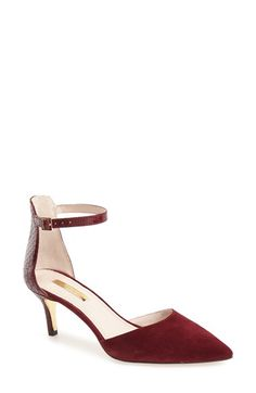 Louise et Cie 'Dillon' Ankle Strap Pointy Toe Pump (Women) available at #Nordstrom
