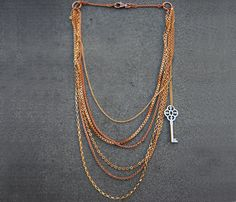 Layered Key Necklace - LOVE!!!