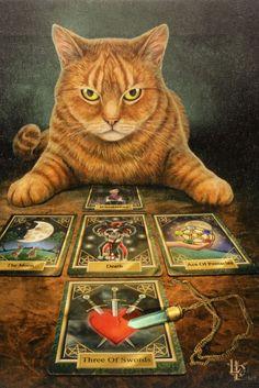 Jetzt werden die Karten nochmal neu gemischt! Lisa Parker bringt ihre Katzen immer wieder in okkulte Situationen - aber wer würde sich von diesem Tiger nicht gern in die Zukunft sehen lassen?