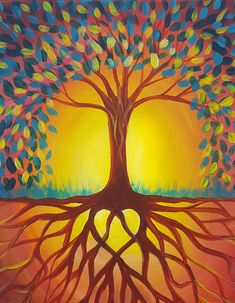 Chang's White Marsh - Paint Nite Events near Baltimo. Tree Of Life Artwork, Tree Of Life Painting, Tree Art, Frida Art, Autumn Painting, Fall Paintings, Painting Inspiration, Cool Art, Art Projects