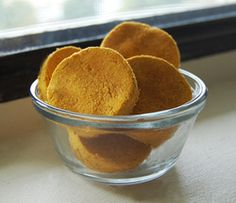 Delicious, nutritious homemade grain-free apple cinnamon and pumpkin dog cookie recipe by K9 Instinct.