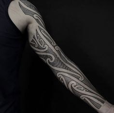 Body Tattoos, New Tattoos, Tribal Tattoos, Sunset Tattoos, Maori Tattoo Designs, Hybrid Design, Maori Art, Celtic Dragon, Dot Work Tattoo