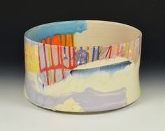 Lauren Mabry is an american artist based out of Philadelphia, Pa. Her primary focus is ceramic sculpture. Pottery Painting, Ceramic Painting, Pottery Vase, Painted Ceramics, Painted Pots, Hand Painted, Hand Built Pottery, Painted Pottery, Pinch Pots
