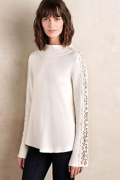 Just added this awesome sweater to my fall wardrobe collection from Anthropologie. A great neutral that I can add pops of color to through my accessories