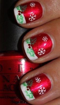 Christmas Nail Art / rinsnailfiles.com