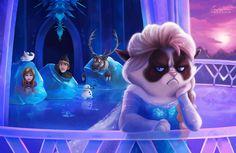Elsa Grumpy Cat - Do you like Disney's Tsum Tsum Plush Toys? Visit TsumTsumPlush.com