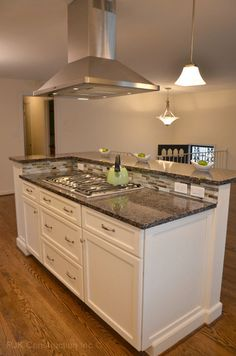 6ft White Kitchen Island w/o counter top with cooktop/sink space HOU-135.