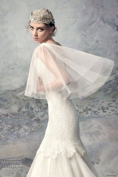 papilio 2016 bridal sleeveless thick strap v neck heavily embellished bodice classic fit and flare wedding dress bolero v back sweep train (1607l yenisei) zsdv