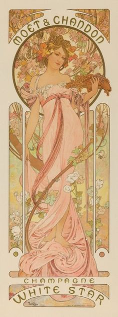 Amazon.com: Moet and Chandon - Champagne White Star Vintage Poster (artist: Mucha, Alphonse) France c. 1899 (16x24 Giclee Gallery Print, Wall Decor Travel Poster): Posters & Prints