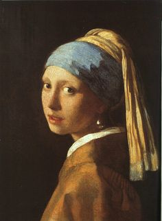 La jeune fille à la perle, 1665, oil on canvas, Mauritshuis, La Hague.