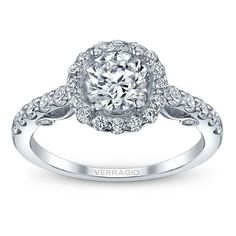 Verragio Round Diamond Engagement Ring