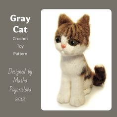This is a pdf pattern not a finished item--------- It is a detailed pattern crochet toy pattern. Photo tutorial how to crochet a Cat that looks like alive. The pattern is written in American terms, the finished cat size is 22 cm when crocheted with thin 500 m in 100 g yarn and