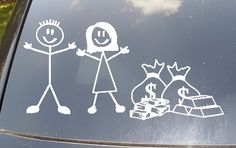 No Kids...Just Money Family Car Sticker by EpicFamilyDecals