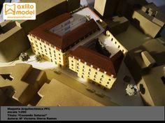 Maqueta arquitectura pfc Málaga architectural scale model Maquetas Axfito