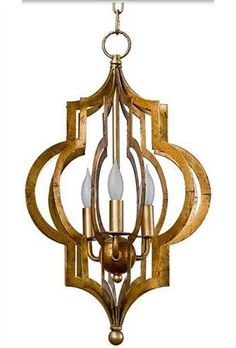 This would be wonderful in a powder room. South Shore Decorating: Regina Andrew Design 44-7238SM Pattern Makers Gold Transitional Chandelier- Small RAD-44-7238-SM